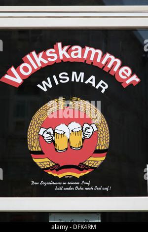Bar VOLKSKAMMER, Wismar, Baltic Sea, Mecklenburg West Pomerania, Germany - Stock Photo