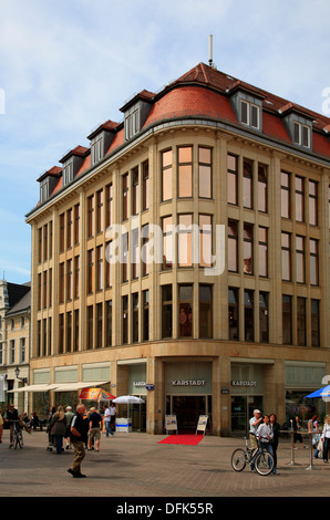 First Karstadt department store in Germany , Wismar, baltic Sea, Mecklenburg West Pomerania, Germany - Stock Photo