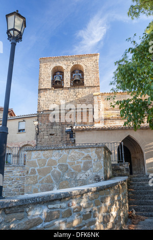 Church of San Martín in the village of Izco, Navarra, Spain - Stock Photo