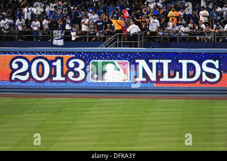 Los Angeles, California, USA. 6th October 2013. The NLDS Major League Baseball game between the Los Angeles Dodgers and the Atlanta Braves at Dodger Stadium.Louis Lopez/CSM/Alamy Live News Stock Photo