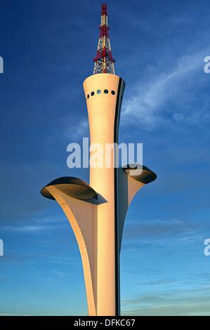 Brazil, Brasilia: Digital TV Tower by Oscar Niemeyer - Stock Photo