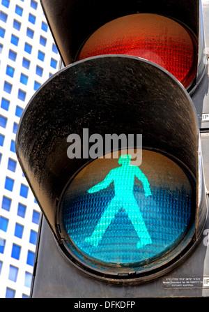 Traffic light for pedestrians, Green light - Stock Photo