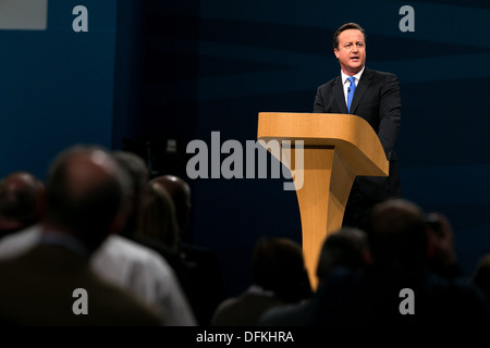 02/10/13 . MANCHESTER , England. Prime Minister David Cameron .The Prime Minister closes the Conservative Party - Stock Photo