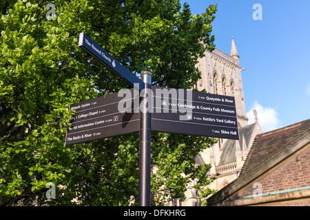 Street sign outside St John's College at Cambridge University UK - Stock Photo