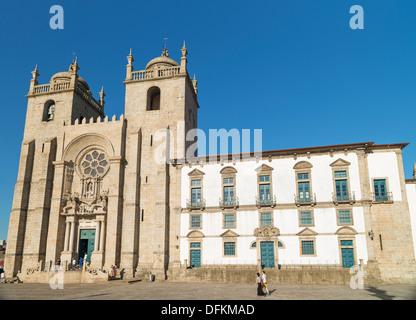 porto se cathedral landmark in portugal - Stock Photo