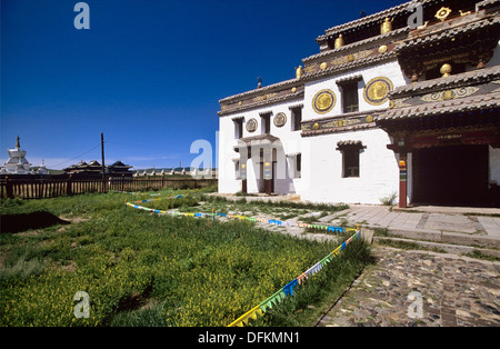 The Erdene Zuu Monastery is probably the most ancient surviving Buddhist monastery in Mongolia  It is in Övörkhangai - Stock Photo