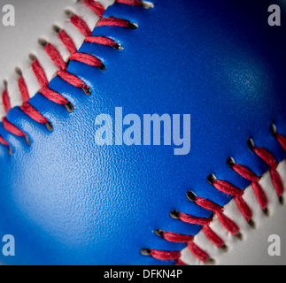 Red white and blue baseball - Stock Photo
