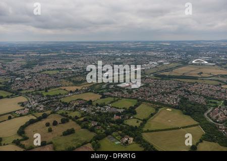 Aerial photograph of Kingsnorth Ashford Kent - Stock Photo