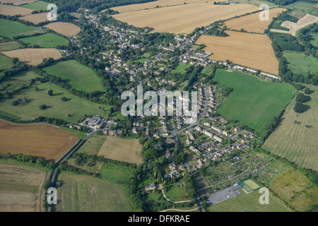 Aerial photograph of Blockley - Stock Photo