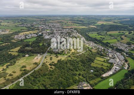 Aerial photograph of Torrington Devon - Stock Photo