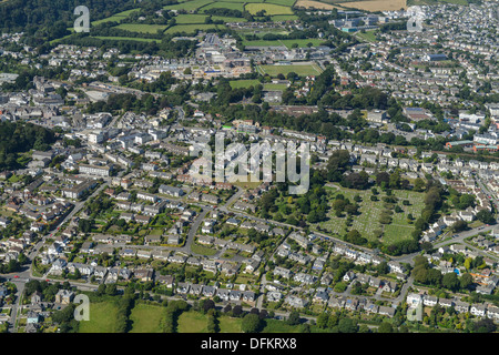 Aerial photograph of St Austell Cornwall - Stock Photo