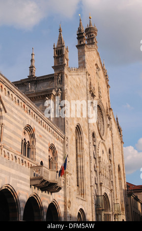 Exterior view of Cathedral in Como town centre Lake Como Lombardy Italian Lakes Italy Europe - Stock Photo
