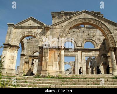 Church of Saint Simeon Stylites near Aleppo, Syria - Stock Photo