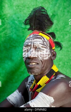 Africa  Ethiopia  Omo Valley  Village of Kolcho  Karo people. - Stock Photo