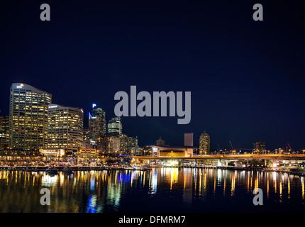 darling harbour entertainment area in sydney australia - Stock Photo