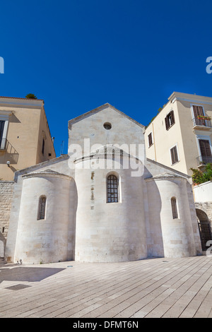 Domed church building Ferrarese Square Bari Italy - Stock Photo