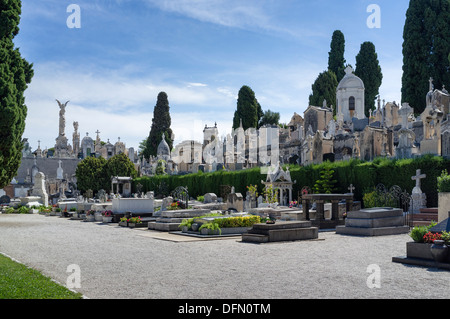The Jewish cemetery on Castle Hill (Cimetière Colline du Château) Nice - Stock Photo
