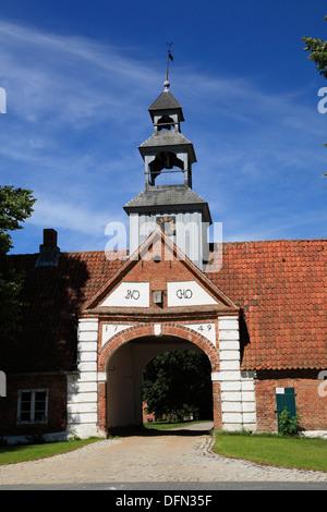 Manor house Krieseby near  Sieseby, Schlei, Baltic Sea, Schleswig-Holstein, Germany - Stock Photo