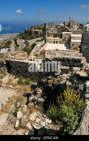 Crusader fortress, castle of Qalaat Marqab, Margat, Syria, Middle East, West Asia - Stock Photo