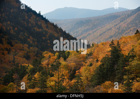 Crawford Notch, White Mountain National Forest, New Hampshire, USA - Stock Photo