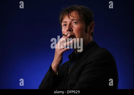 DBC Pierre, Man Booker Prize winning author, attending the Edinburgh International Book Festival, Thursday 22nd - Stock Photo
