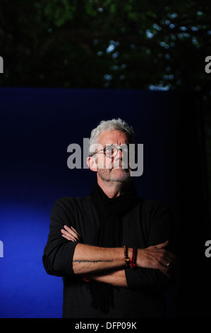 C.S. Richardson, Canadian novelist, and book designer, attending the Edinburgh International Book Festival 2013. - Stock Photo