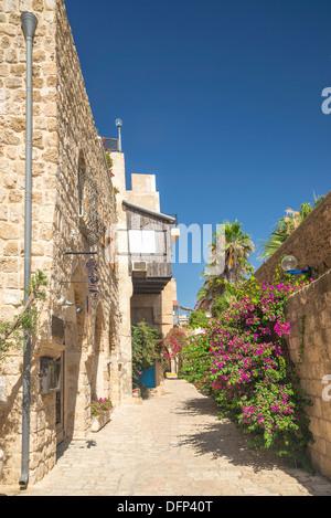 street in jaffa old town of tel aviv israel - Stock Photo