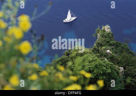 Capri, Italy View from Salto di Tiberio - Stock Photo