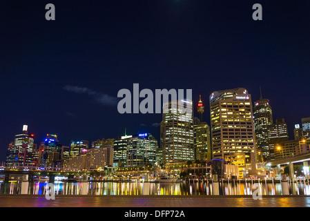 darling harbour skyline in sydney australia - Stock Photo