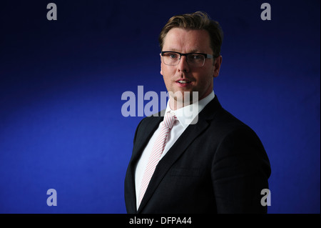 Damian Barr Writer, columnist, playwright and salonnière, attending at the Edinburgh International Book Festival - Stock Photo