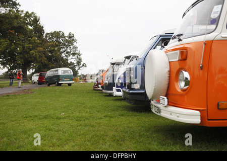 The annual 'Brighton Breeze' VW camper van rally for enthusiasts takes place from Hook Road Arena, nr Epsom to Brighton, - Stock Photo