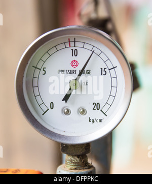 Manometer. Close-up. Isolated on white background. - Stock Photo