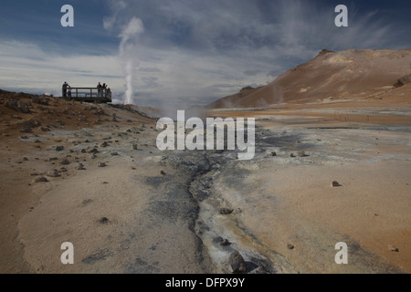 Namaskard Hverarond Geothermal Mud Pits - Stock Photo