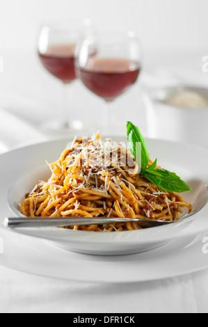 Spaghetti bolognese Italian Food - Stock Photo