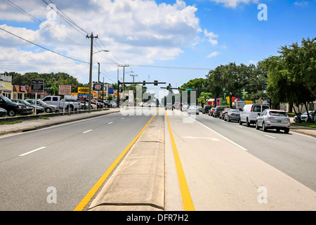 Intersection of Bee Ridge and Tuttle in the heart of Sarasota - Stock Photo