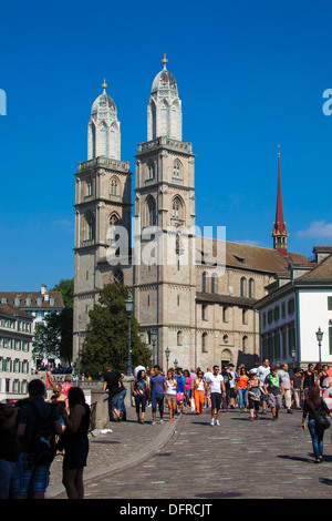 Switzerland Zurich Cathedral. - Stock Photo