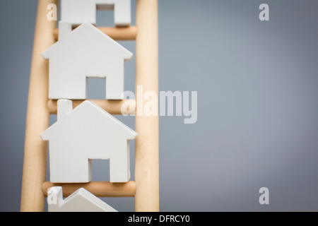 Concept Shot To Illustrate Property Ladder - Stock Photo