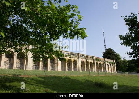 Crystal Palace Park Terraces and Antenna mast - Stock Photo