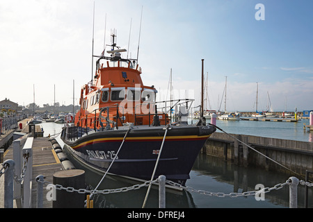 Isle of Wight Yarmouth RNLI Severn class lifeboat - Stock Photo