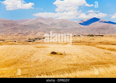 view of mountail plateau near Sisian town in Armenia in autumn day