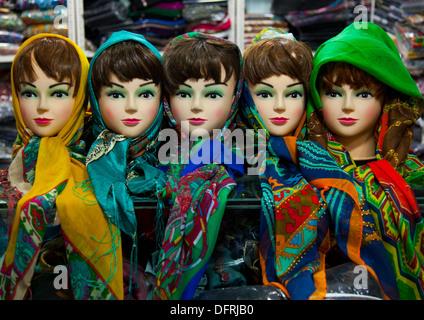 Scarf Shop In The Bazaar, Kermanshah, Iran - Stock Photo