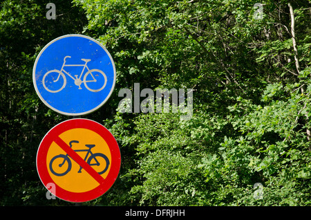 Signs with different messages - Stock Photo