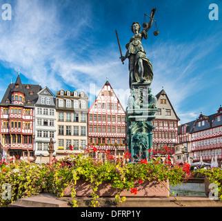 The Old City of Frankfurt, Germany. - Stock Photo