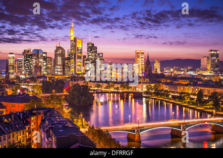 Skyline of Frankfurt, Germany, the financial center of the country. - Stock Photo