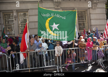 Annual Muslim Day Parade on Madison Avenue, New York City - Stock Photo
