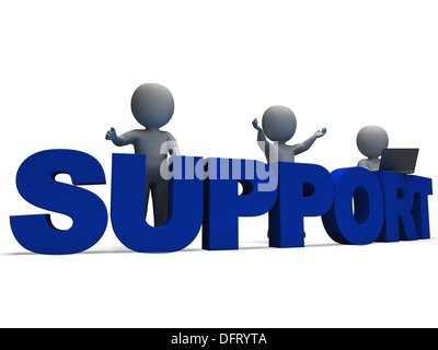 Support Word Showing Assistance Service And Help - Stock Photo