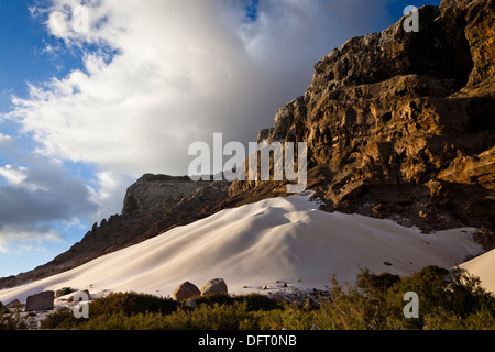 Erher dunes, east coast, Socotra island, listed as World Heritage by UNESCO, Aden Governorate, Yemen, Arabia, West - Stock Photo