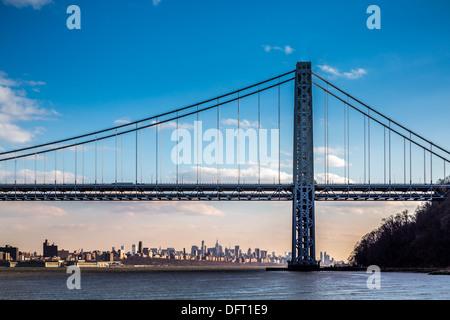 George Washington Bridge spanning the Hudson River, New York