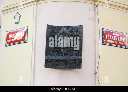 Franz Kafka square in old town Prague Czech Republic Europe - Stock Photo