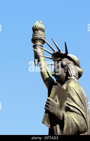 Small Statue of Liberty, Donated by Boy Scouts of America, at Georgia State Capital Grounds - Stock Photo